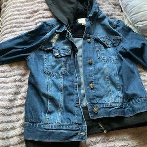 Women's large forever 21 jean jacket 💚